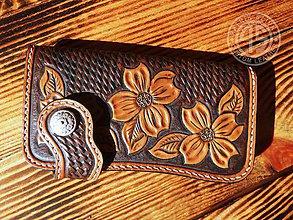Peňaženky - Kožená peňaženka - 9810378_