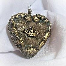Dekorácie - Srdce - srdiečko - 9811639_