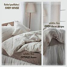 Úžitkový textil - lněné povlečení FARM house - 9810153_