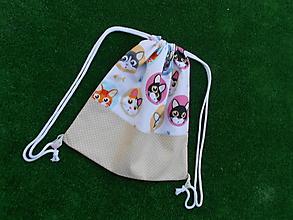 Detské tašky - Batôžtek - mačičky s bodkou - 9810579_