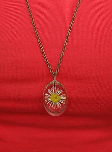 Náhrdelníky - Kvety v živici 3 - 9810857_