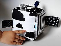 Hračky - Montessori kocka čiernobiela - 9811352_
