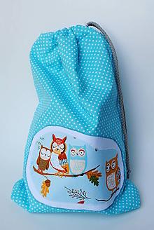 Textil - Vrecko Sovy čakajú - 9810429_