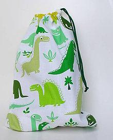 Detské doplnky - Vrecúško Dinosaury - 9810797_