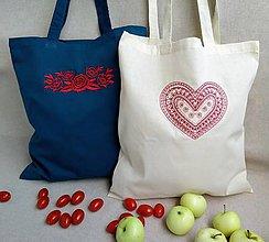 Nákupné tašky - Bavlnené tašky - sada 2 ks - 9810995_