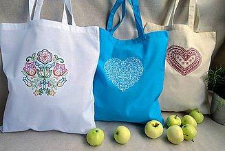 Nákupné tašky - Bavlnené tašky - sada 3 ks - 9811065_