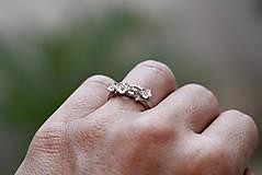 Prstene - Vetvičkový s lúčnymi kvetmi - 9810496_