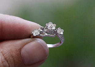 Prstene - Vetvičkový s lúčnymi kvetmi - 9810495_