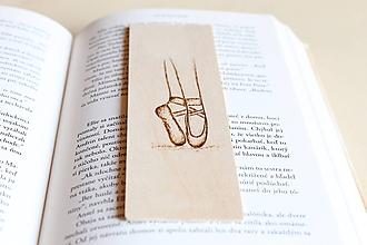 """Papiernictvo - Drevená záložka do knihy """"Baletka"""" - 9810450_"""