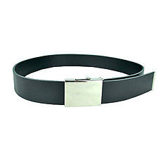 Doplnky - Kožený opasok 4cm, čierny - plná pracka - 9810852_