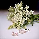 Sady šperkov - Motýľ a rosa - sada prívesku a náušníc v darčekovej krabičke - 9810536_