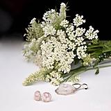 Sady šperkov - Motýľ a rosa - sada prívesku a náušníc v darčekovej krabičke - 9810538_