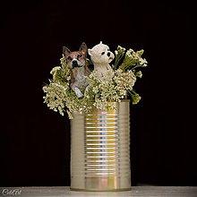 Kytice pre nevestu - Figúrky do svadobnej kytice - podľa fotografie - 9810299_