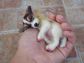 Dekorácie - Plstený mini psík 2 - 9811265_