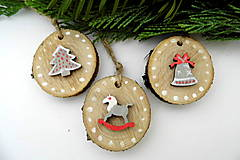 Dekorácie - Sada vianočných ozdôb natur - 9811267_