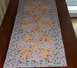 Úžitkový textil - Patchworkový obrus oranž - 9811339_