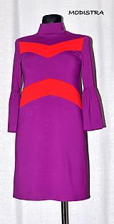 Šaty - Úpletové šaty/tunika v aktuálnej farbe - 9809682_