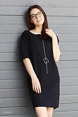 Šaty - Dámske šaty s vreckami čierne z úpletu M15 IO17 - 9809127_