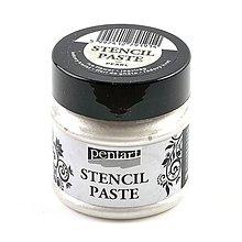 Farby-laky - Šablónovacia pasta, perleťová, 50 ml, Pentart, rôzne farby (ľadový kvet) - 9813408_