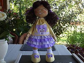 Bábiky - Fialovožltá bábika - 9813291_