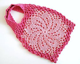 Nákupné tašky - Sieťovka Kvet Ružový - 9812479_