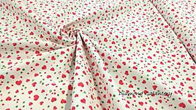 Textil - Bavlna režná - Srdiečka malé - cena za 10 cm - 9813556_