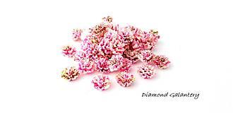 Komponenty - Ozdobný kvietok 12 mm - melírový ružový svetlý - 9813593_