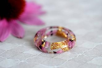 Prstene - Prsteň Vres a zlato (2480 A) - 9814042_