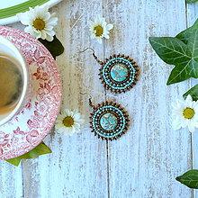 Náušnice - Ethno earrings - vyšívané náušnice - 9812036_