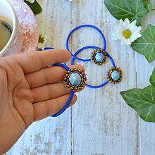 Ozdoby do vlasov - Blue melange - gumička do vlasů - 9812088_