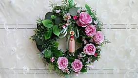 Dekorácie - Víla kvetov... veniec - 9814401_