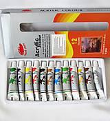 Farby-laky - Sada akrylových farieb 12x12 ml - 9814214_