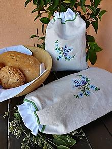 Úžitkový textil - Ľanové vrecká z ručne tkaného plátna - sada 2 ks - 9812878_