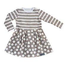 3f3ecab12a70 Detské oblečenie - BIO šaty - Dots and Stripes grey - 9812734