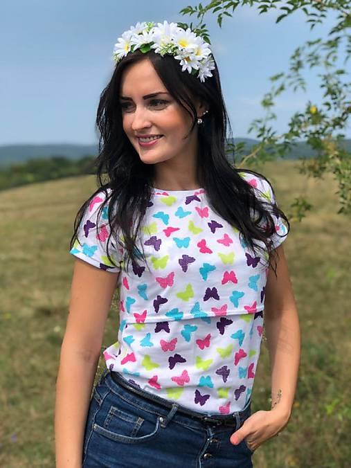 cf5f433b7108 Tričko na dojčenie - motýle   Mellien.design - SAShE.sk - Handmade ...