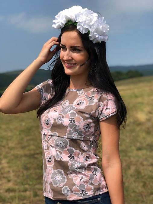 20e40827b94b Tričko na dojčenie - jemné kvety (S)   Mellien.design - SAShE.sk ...