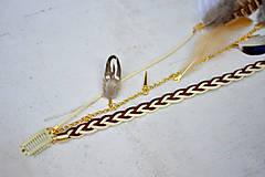 Ozdoby do vlasov - Hippie prírodný hair clip s perím - 9813603_