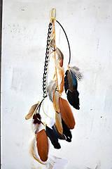 Ozdoby do vlasov - Hippie prírodný hair clip s perím - 9813627_
