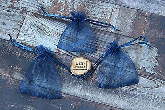 Obalový materiál - Organzové vrecúško - Nádherná modrá 9x12cm - 9813678_