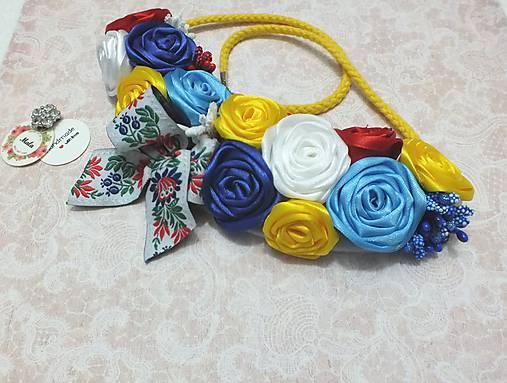 cfb234b69 Náhrdelník zo saténových ruží / MALAhandmade - SAShE.sk - Handmade ...