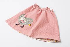 Detské oblečenie - Suknička s vtáčikom - 9814804_