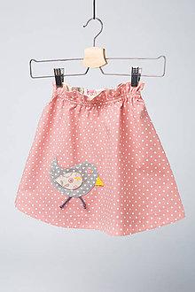 Detské oblečenie - Suknička s vtáčikom - 9814817_