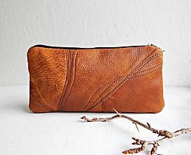 """Taštičky - PEN CASE """"Simple Brown"""" kožená taštička - 9812581_"""