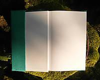Papiernictvo - Kožuch/obal na knihu: r a s t l i n k y (mentolovo tyrkysová) - 9817744_