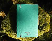 Papiernictvo - Kožuch/obal na knihu: r a s t l i n k y (mentolovo tyrkysová) - 9817745_