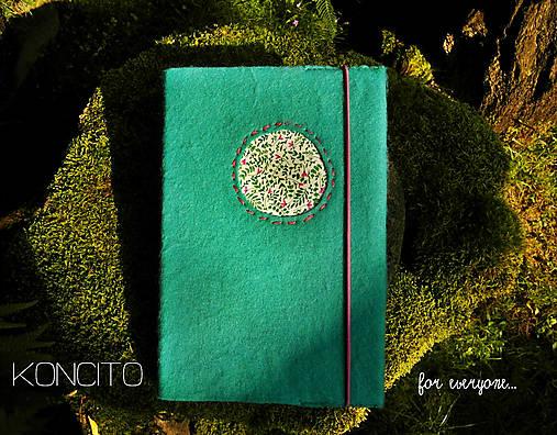 Kožuch/obal na knihu: r a s t l i n k y (mentolovo tyrkysová)