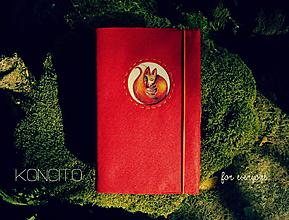 Papiernictvo - Kožuch/obal na knihu: l í š k a - červená - 9815722_