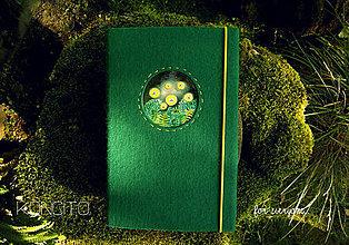 Papiernictvo - Kožuch/obal na knihu: s v ä t o j á n s k e  m u š k y (trávová zelená) - 9817722_