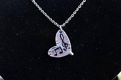 Náhrdelníky - Srdce hudbou naplnené - 9816797_