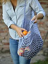 Nákupné tašky - Sieťovka - levanduľová - 9815176_